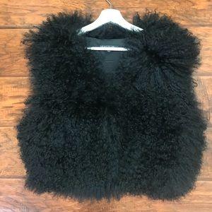 Lafayette 148 New York Lamb hair vest size M